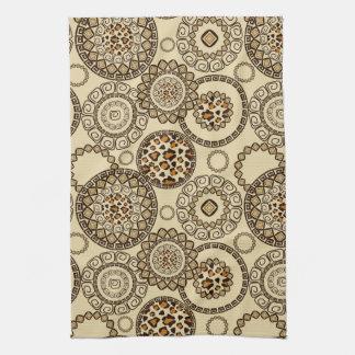 African cheetah skin pattern 3 tea towel