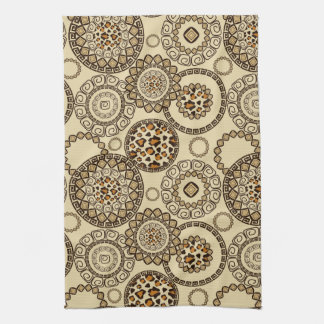 African cheetah skin pattern 3 tea towels