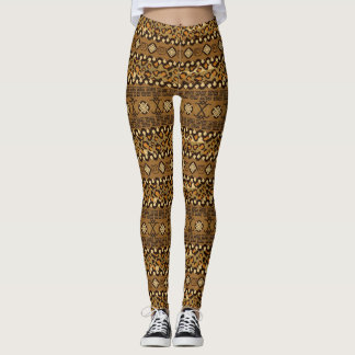 African cheetah skin pattern leggings