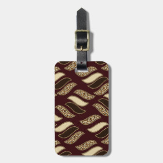 African cheetah skin pattern luggage tag