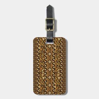 African cheetah skin pattern luggage tag