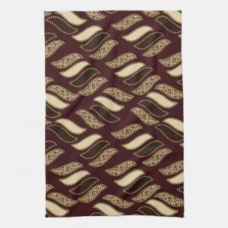African cheetah skin pattern tea towel