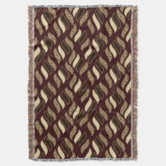 African cheetah skin pattern throw blanket