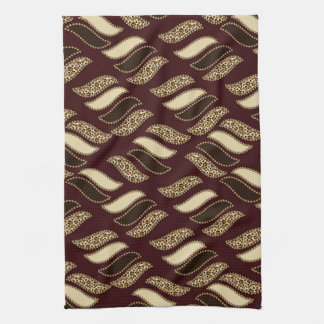 African cheetah skin pattern towel