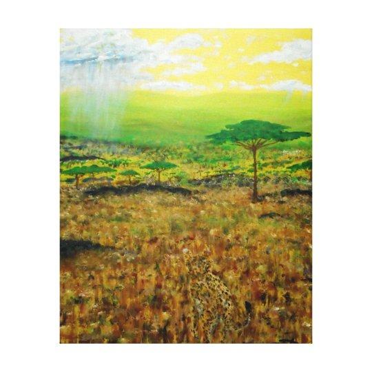 "African Cheetahs- 32"" x 40"" Gallery wall canvas"
