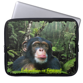 African Chimpanzee & Jungle Wildlife Laptop Sleeve