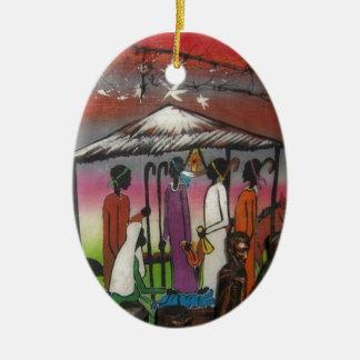 African Christmas Nativity Scene Christmas Ornament