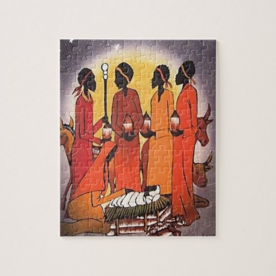 African Christmas Nativity Scene Jigsaw Puzzle