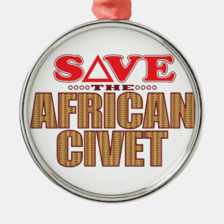 African Civet Save Christmas Ornament