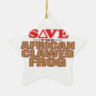African Clawed Frog Save Christmas Ornament
