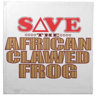 African Clawed Frog Save Napkin