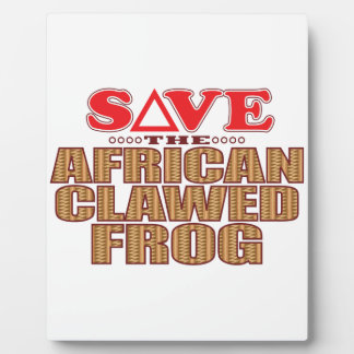 African Clawed Frog Save Plaque