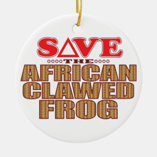 African Clawed Frog Save Round Ceramic Decoration