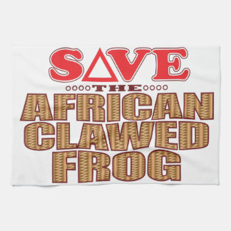 African Clawed Frog Save Tea Towel