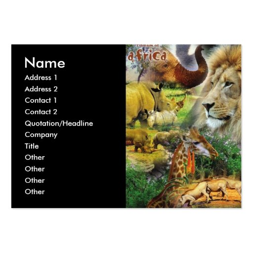 African Collage Business Cards