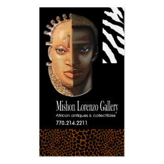 African Collectibles: Afrocentric African American Pack Of Standard Business Cards