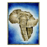 African Continent Poster