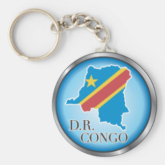 African country buttons basic round button key ring