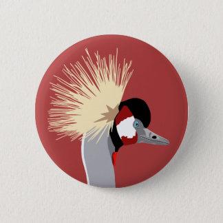 African Crowned Crane Badge