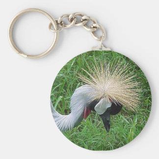 African Crowned Crane Key Ring