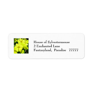 African Daisies Address Labels for Personalization