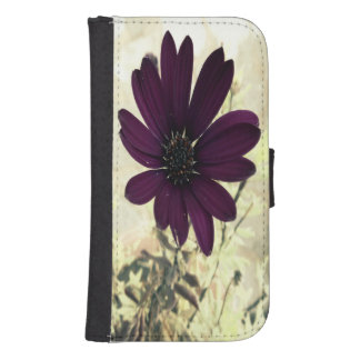 African Daisy Autumnal Samsung S4 Wallet Case