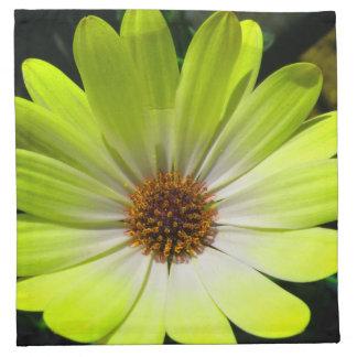 African Daisy Fluorescent Yellow Napkin