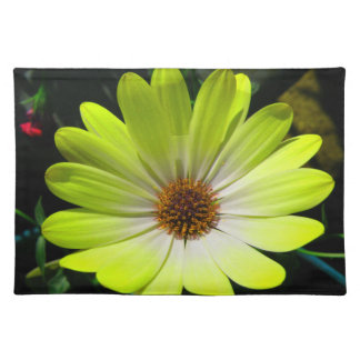 African Daisy Fluorescent Yellow Placemat