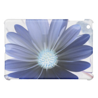 African Daisy Glowing Blue  Case For The iPad Mini