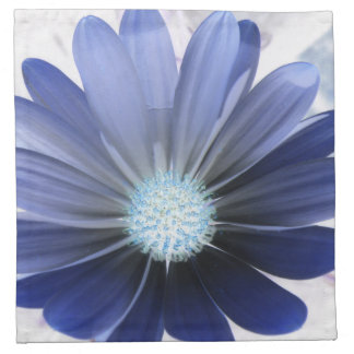 African Daisy Glowing Blue Napkin