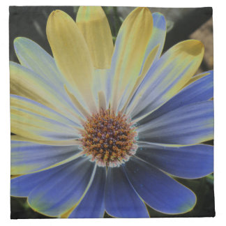 African Daisy Lapis and Gold Napkin