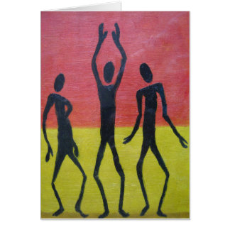 African Dance Greeting Card