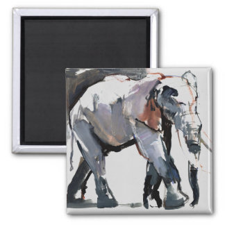 African Elephant 2012 Square Magnet