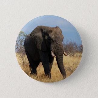 African Elephant 6 Cm Round Badge