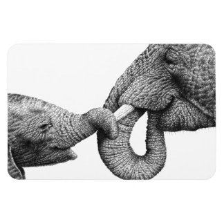 African Elephant and Calf Premium Magnet