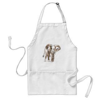 African Elephant Standard Apron