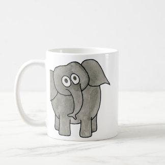African Elephant. Basic White Mug