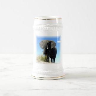 African Elephant Beer Stein 18 Oz Beer Stein