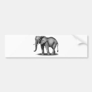 African Elephant Bumper Sticker