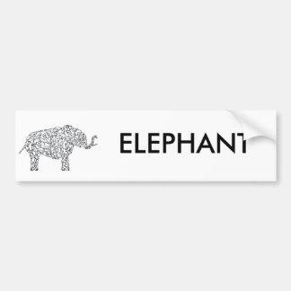 AFRICAN ELEPHANT CAR BUMPER STICKER