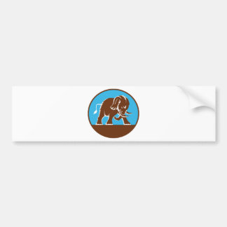 african elephant charging attacking bumper sticker