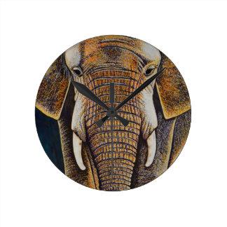 African Elephant Clock