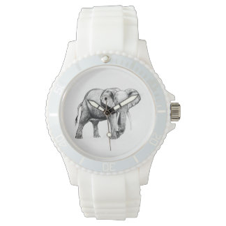 African elephant drawing wristwatch