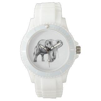 African elephant drawing wristwatch