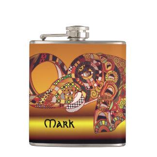 African Elephant Flask Zendoodle