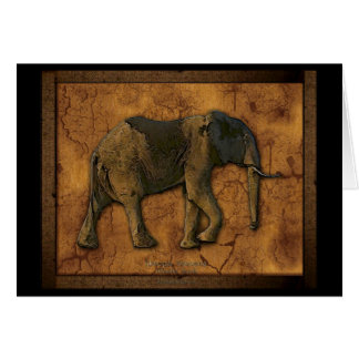 African Elephant Greeting Cards & Note Cards
