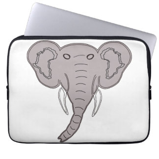 African Elephant Laptop Computer Sleeves