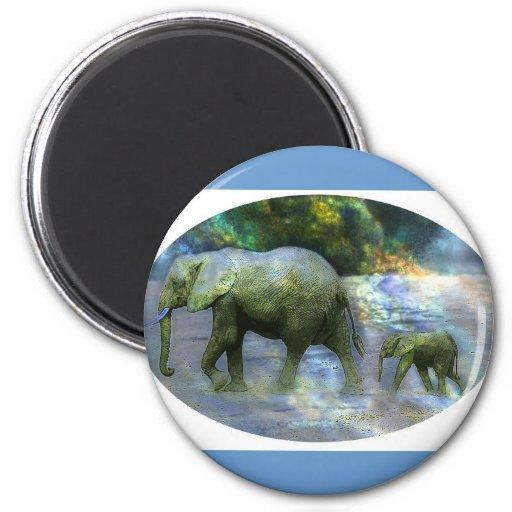 African Elephant Fridge Magnets