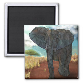African Elephant Magnet