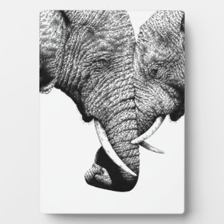 African Elephant Plaque